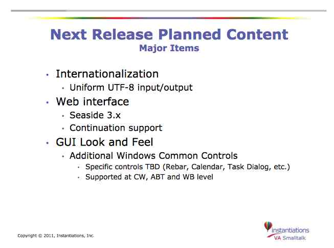 Major new features for VA ST 8.0.4 (??)